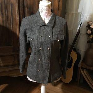 Jackets & Coats - Vintage Military Style Black Blazer